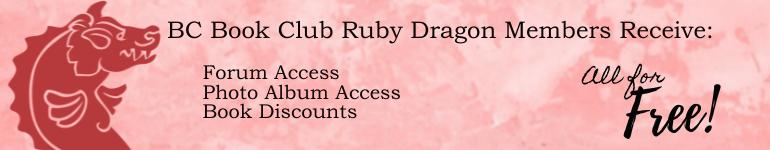 ad promoting Ruby Dragon brick cave book club membership